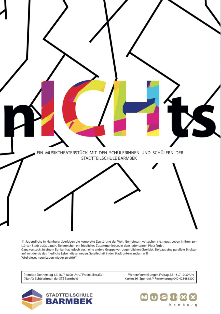 """""""nICHts"""" feiert Premiere an der Stadtteilschule Barmbek"""