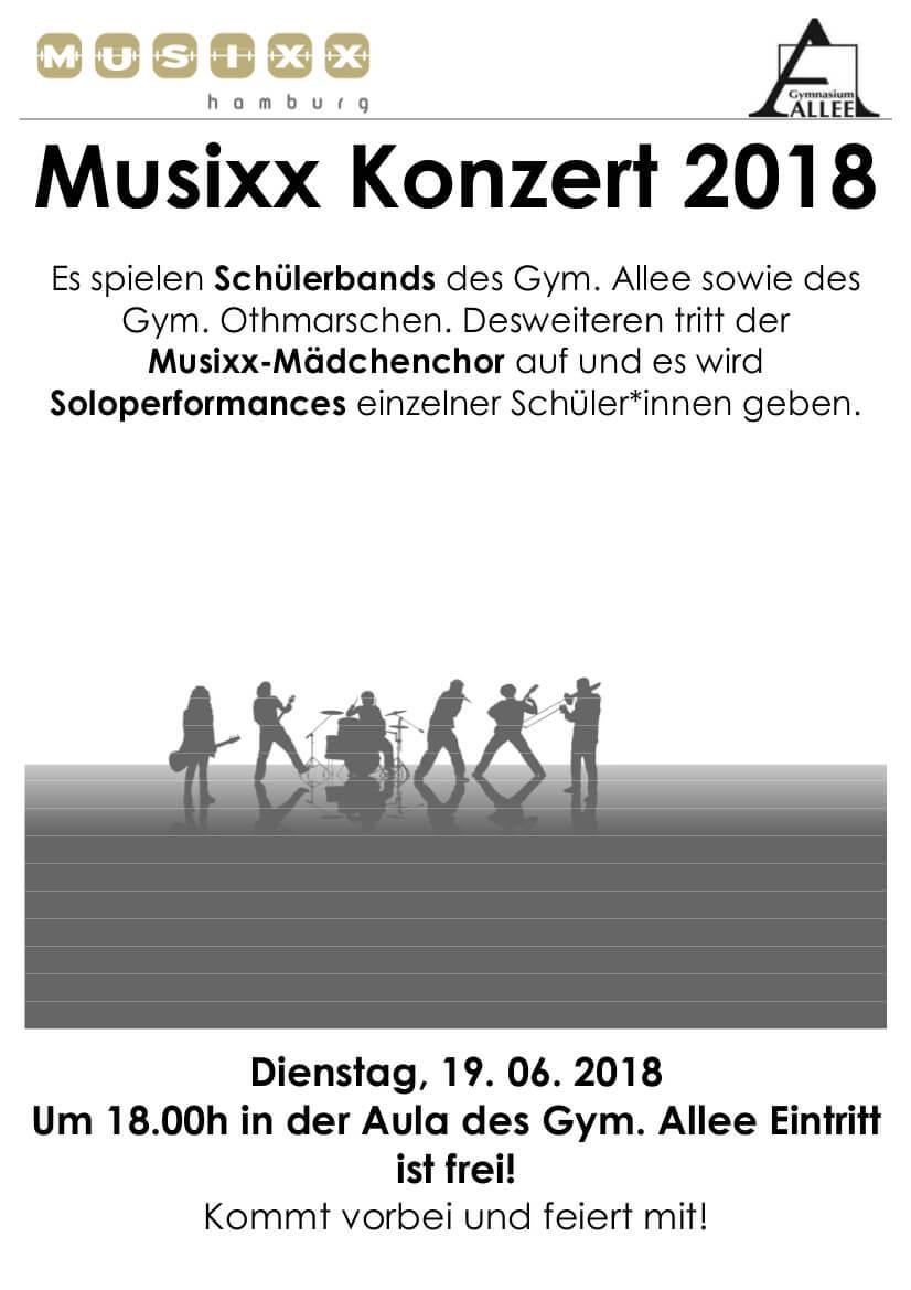 Musixx-Konzert im Gymnasium Allee