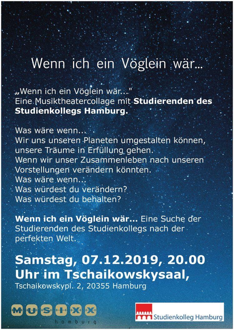 Aufführung  des Studienkolleg Hamburg am 07.12.2019